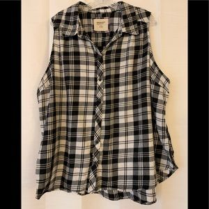 Arizona Jean Black & White Flannel Shirt - 3X Jr